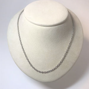 f117 Vintage Sterling Silver Round Link Chain Neck